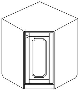Тумба 84х84 угловая (1 дверь)