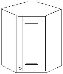Шкаф 60х60 угловой навесной
