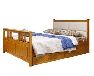 Кровать Дания 3 мягкая с ящиками