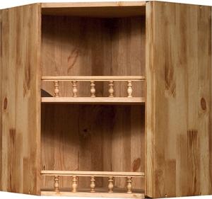 Шкаф настенный угловой Викинг GL 900 открытый