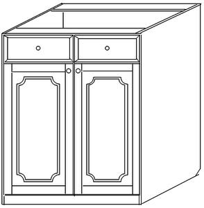 Тумба 60 (2 двери 1 ящик)